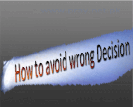 How to take decisions in life