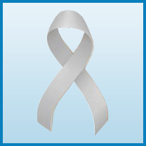 Brain cancer ribbon color